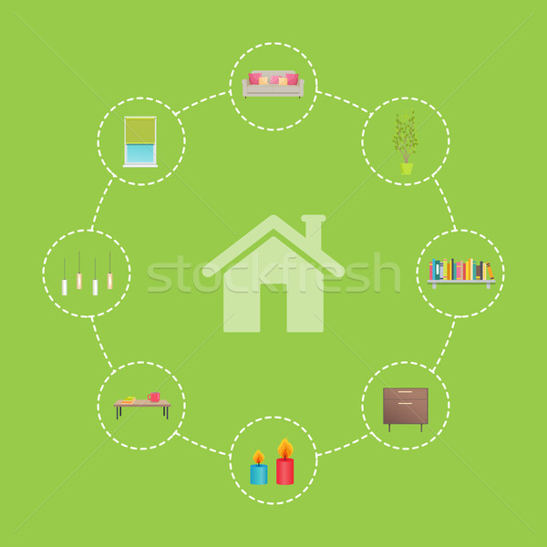 House and Icons Collection Vector Illustration Stock photo © robuart