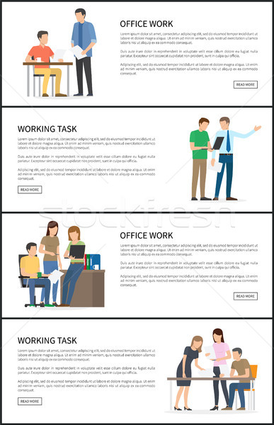 Set of Office Working Task Vector Illustration Stock photo © robuart