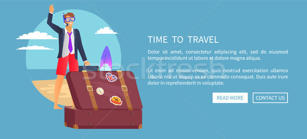 Time to Travel Web Poster Push Buttons Read More Stock photo © robuart