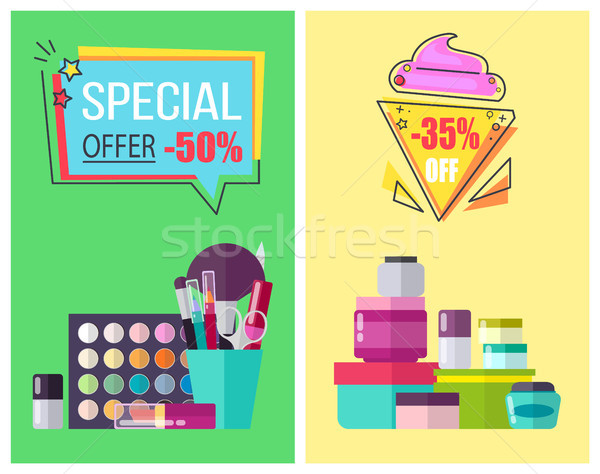 Special Offer for Skincare Means and Makeup Tools Stock photo © robuart