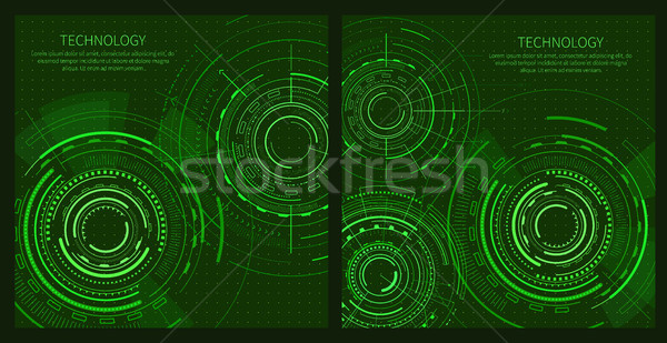 Two Technology Posters with Interface Patterns Stock photo © robuart