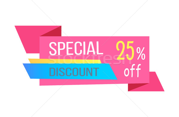 Varicoloured Special Discount 25 Percent Off Card Stock photo © robuart