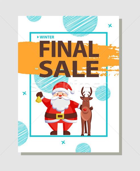 окончательный Рождества продажи праздник скидка плакат Сток-фото © robuart
