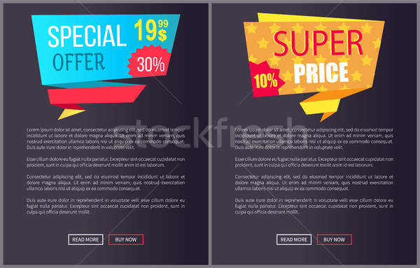 Special Offer Super Price Advert Promo Sticker Web Stock photo © robuart