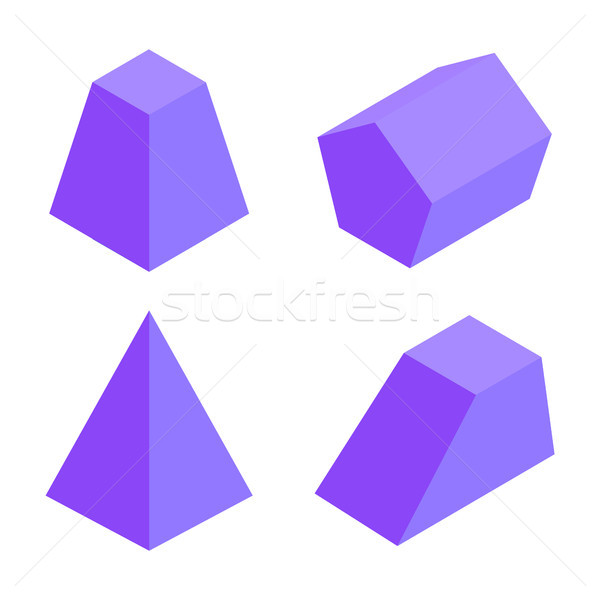 Four Prisms Banner, Geometric Elements Collection Stock photo © robuart