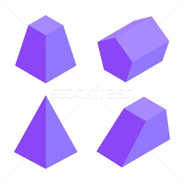 Quattro banner geometrica elementi raccolta isolato Foto d'archivio © robuart