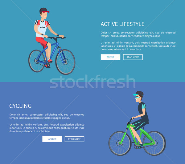 Cycling and Active Lifestyle Vector Illustration Stock photo © robuart