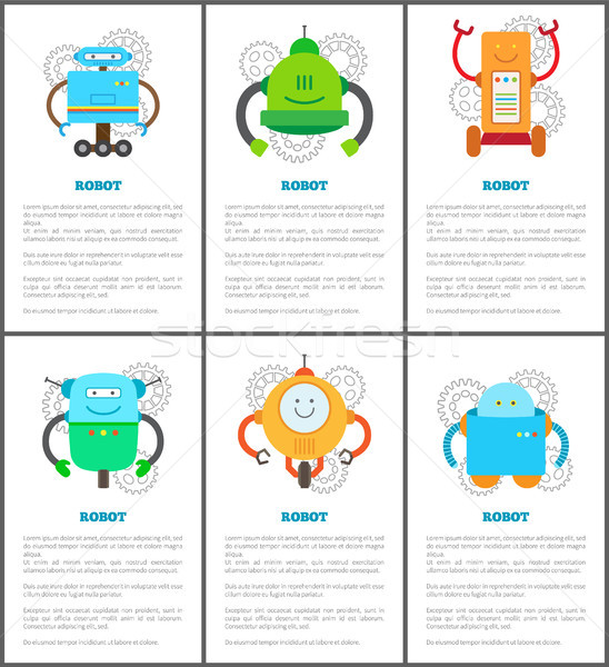 Robot and Innovation Set Vector Illustration Stock photo © robuart
