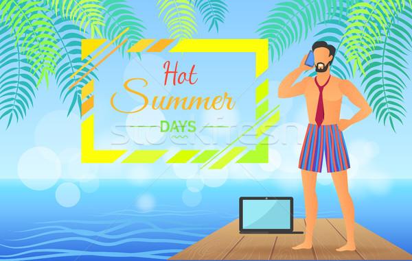 Caliente verano día negocios anunciante día de verano Foto stock © robuart