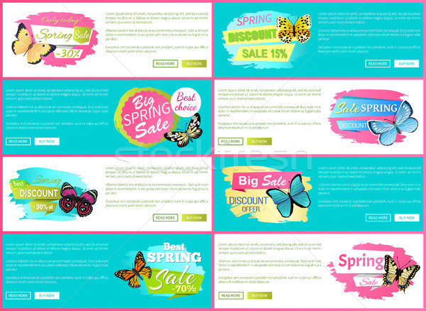 Total Spring Sale 70 Off Stickers on Web Posters Stock photo © robuart