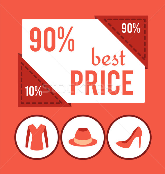 Best Price with 90 Off for Female Clothes Promo Stock photo © robuart