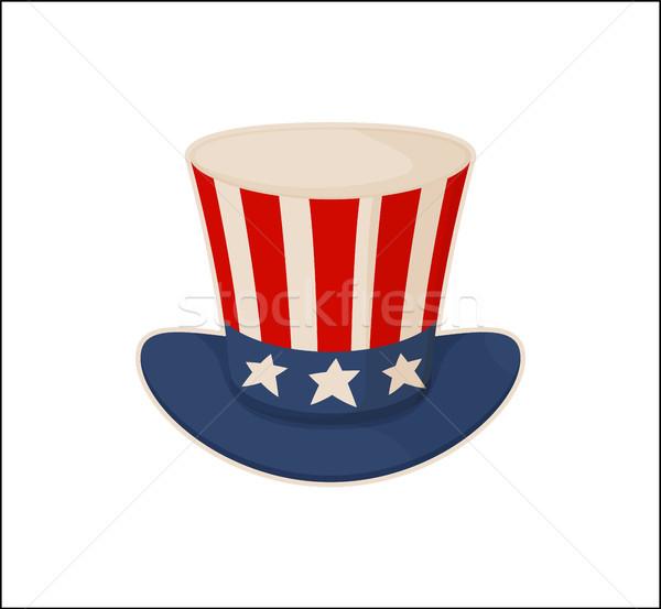 Tío sombrero patrón aislado blanco fondo Foto stock © robuart