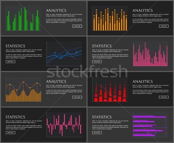 分析論 セット ウェブ グラフィックス 異なる ストックフォト © robuart