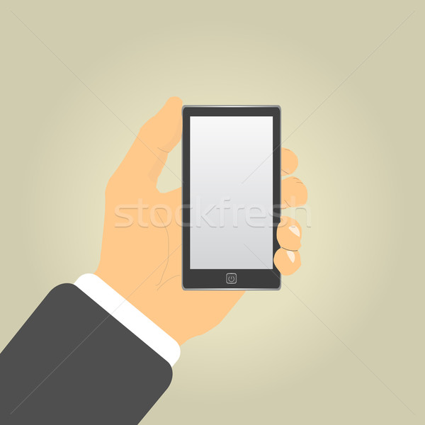 Hand with phone Stock photo © robuart