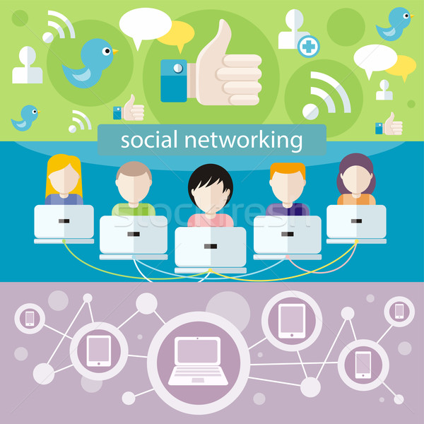 Social media network connection concept Stock photo © robuart