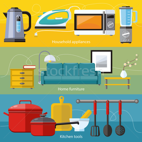 Household Appliance, Furniture, Cooking Serve Meal Stock photo © robuart