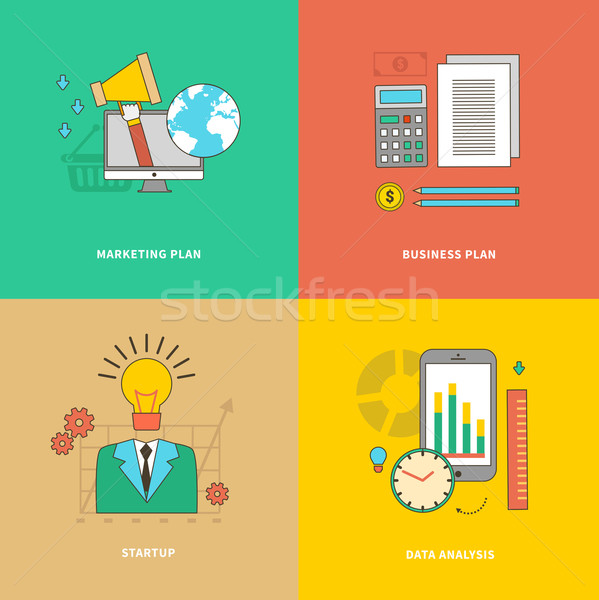 Data Analysis, Business Marketing Plan, Startup Stock photo © robuart