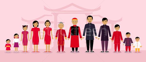 китайский семьи люди дизайна азиатских Японский Сток-фото © robuart