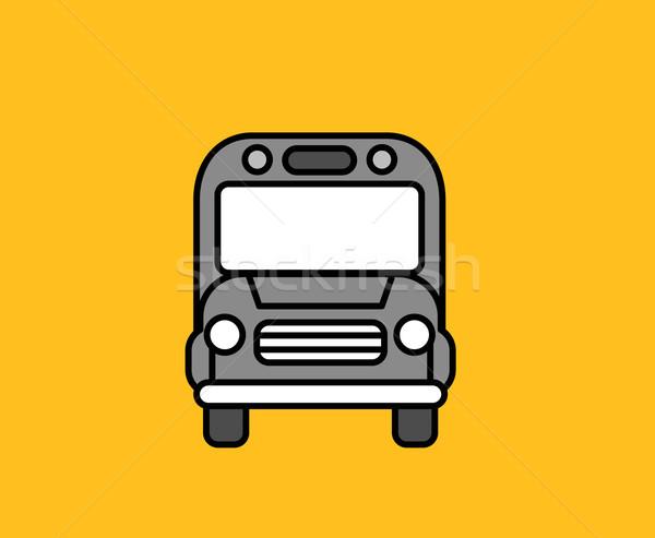 Bus Front Icon Design Flat Isolated Stock photo © robuart