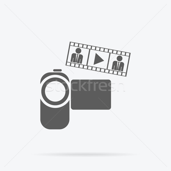 Caméra vidéo icône caméra app style design Photo stock © robuart