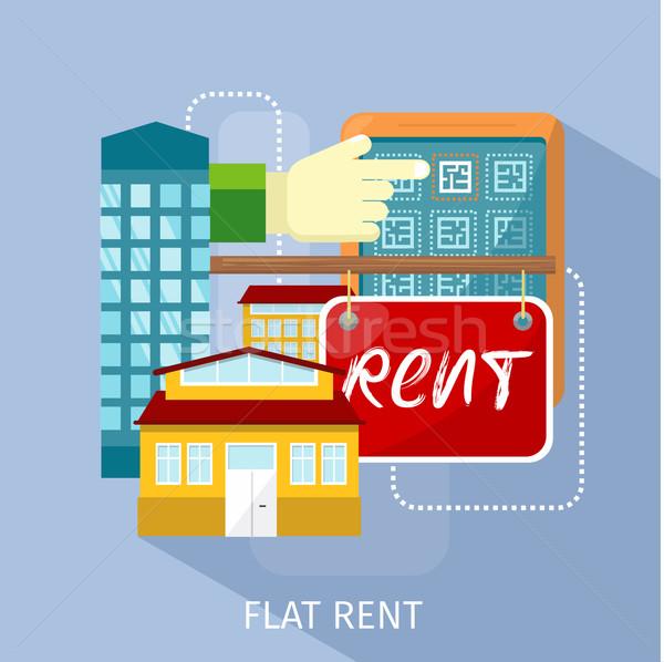 Kira fiyat dizayn iş ev Stok fotoğraf © robuart