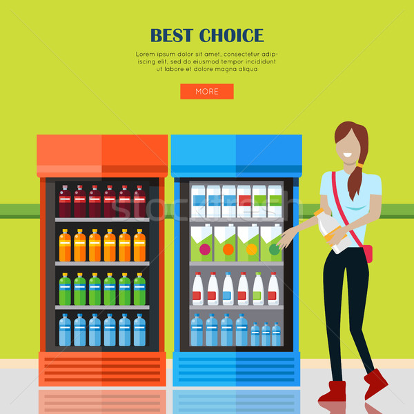 Woman in Supermarket Stock photo © robuart