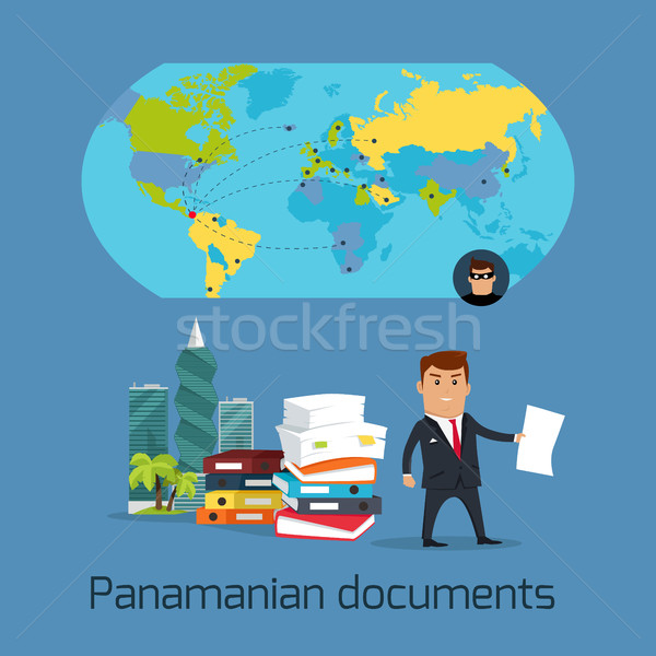 Panamanian Documents Scandal Concept Flat Vector Stock photo © robuart