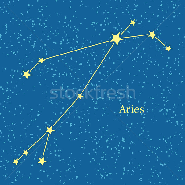 Aries Zodiac Symbol on Background of Cosmic Sky Stock photo © robuart