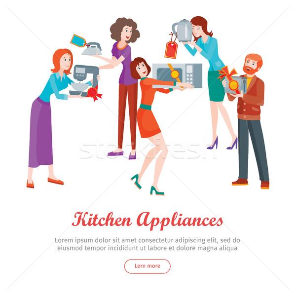 台所用の器具 セット 人 ストア 販売 デザイン ストックフォト © robuart