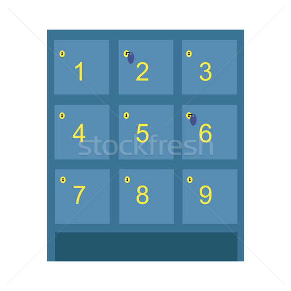 Lockers Vector Illustration in Flat Style Design.  Stock photo © robuart