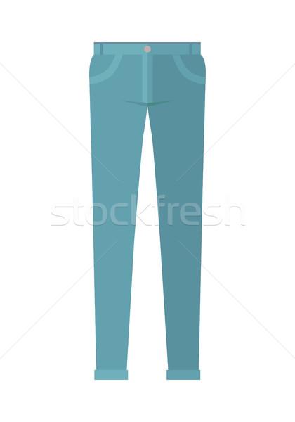 Broek pants geïsoleerd witte man vrouw Stockfoto © robuart
