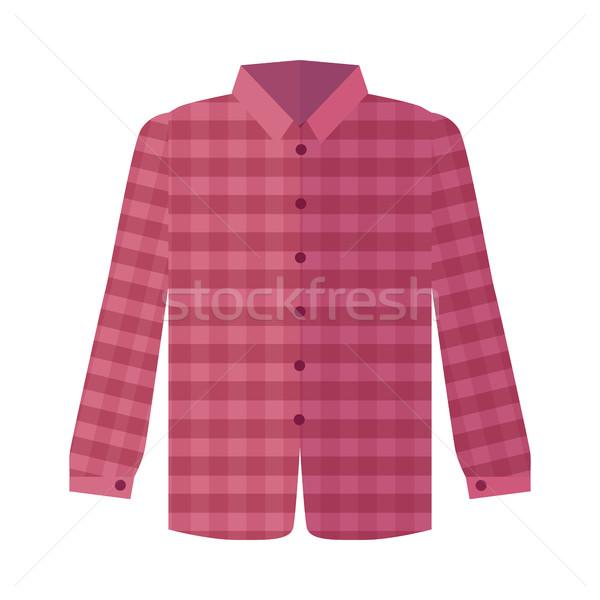 Rood shirt stijl lange mouw icon Stockfoto © robuart