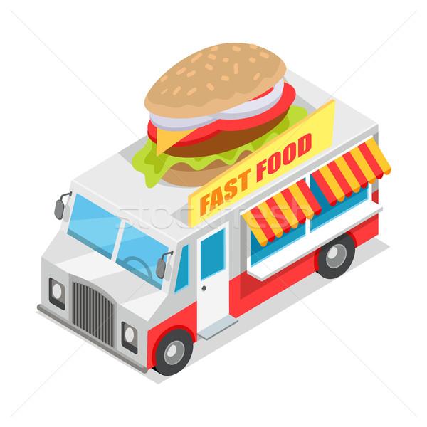 Fast-food izometrik projeksiyon dizayn stil ikon Stok fotoğraf © robuart
