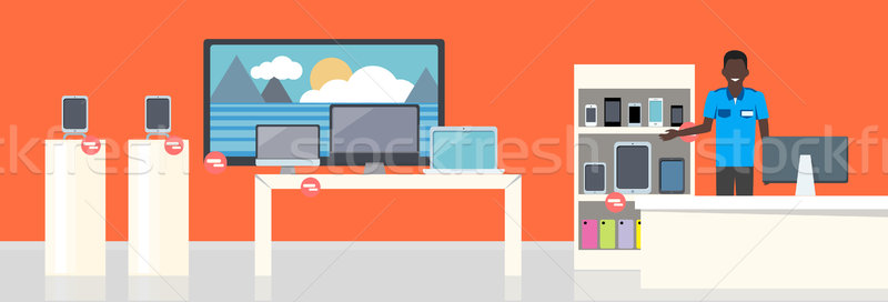 Shop Specialized on Selling Electronic Equipment. Stock photo © robuart