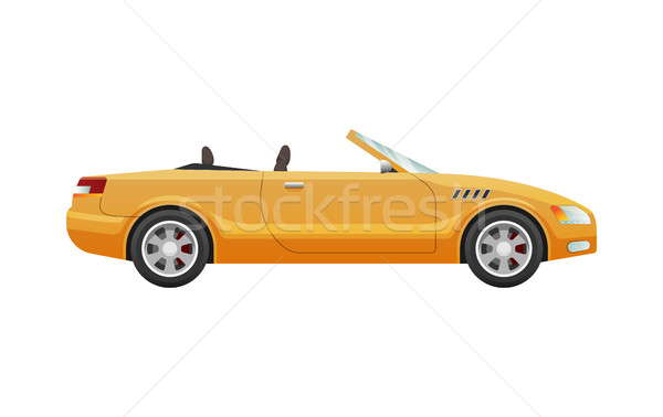 Transport. Picture of Isolated Yellow Cabriolet Stock photo © robuart