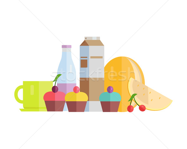 Food Concept Illustration in Flat Style Design. Stock photo © robuart
