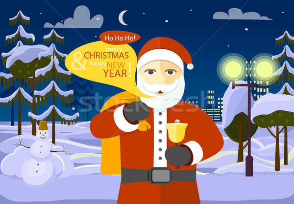 Merry Christmas and Happy New Year from Santa Stock photo © robuart