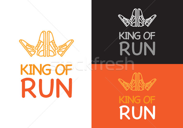 King of Run on Different Background. Fitness. Stock photo © robuart