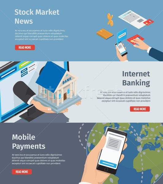 Smart Internet Banking Promotion Page Illustration Stock photo © robuart