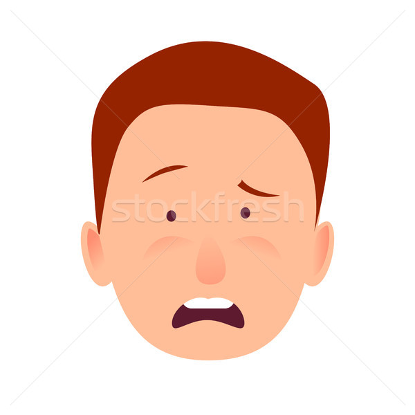Distressed Face Emotion on Man-child Close-up Stock photo © robuart