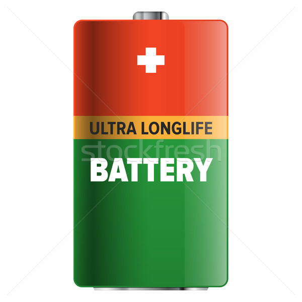 Big Ultra Longlife Battery Isolated Illustration Stock photo © robuart