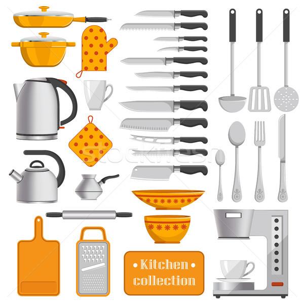 кухне коллекция посуда острый Ножи Сток-фото © robuart