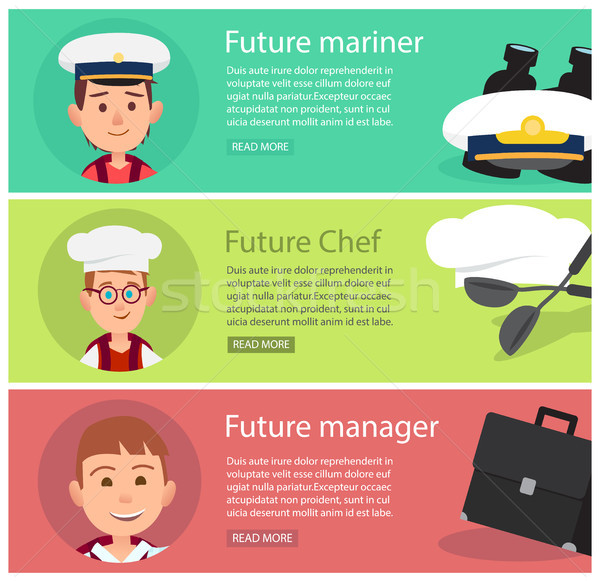 Future Mariner, Chef and Manager Illustration Stock photo © robuart