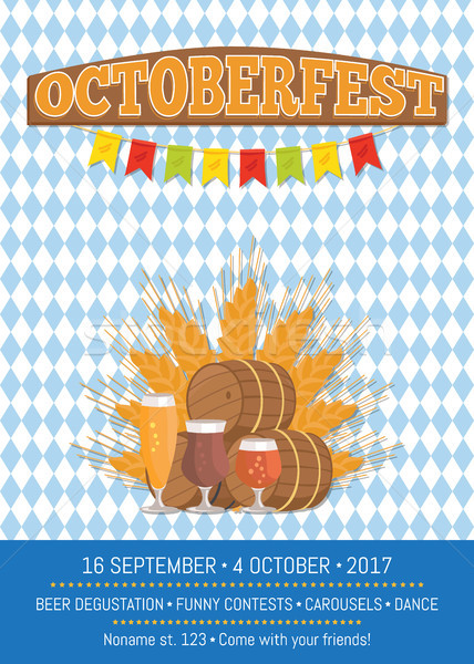 Stock photo: Octoberfest Oktoberfest Promotional Poster Vector
