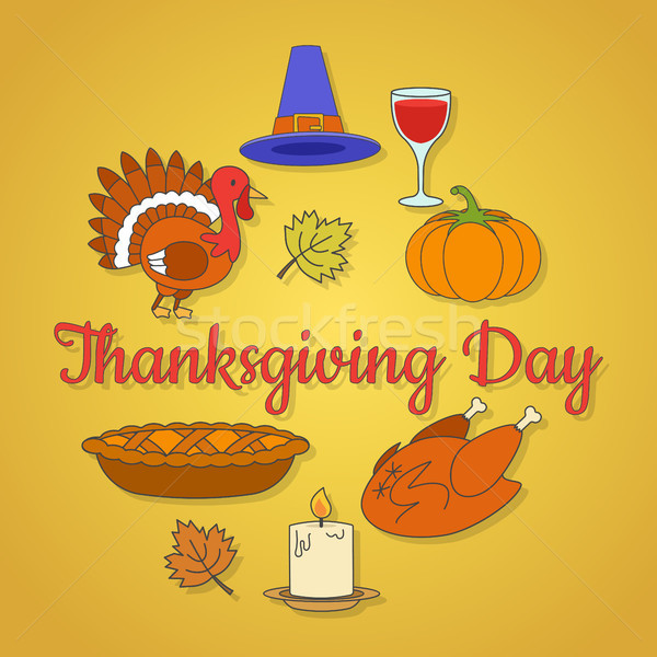Thanksgiving Day Concept with Holiday Symbols Stock photo © robuart