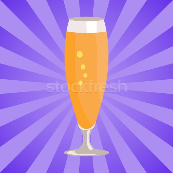 стекла пива изолированный белый аннотация Лучи Сток-фото © robuart