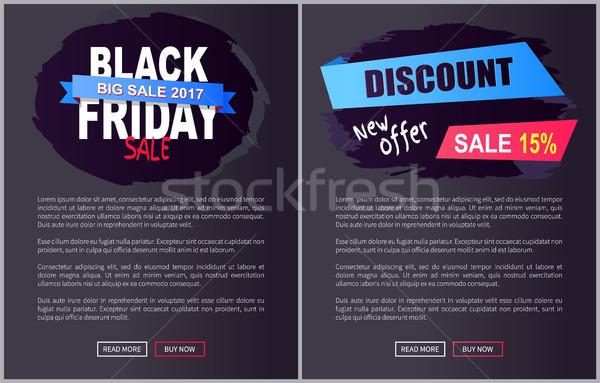 Black friday nagy vásár promo háló plakátok Stock fotó © robuart