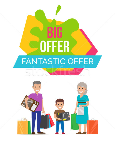 Fantastic Offer Sale Advert Vector Illustration Stock photo © robuart