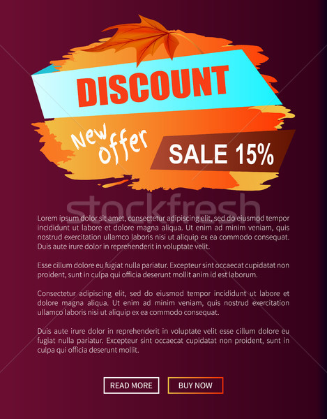 Discount New Offer Autumn Sale 15 Off Advert Label Stock photo © robuart