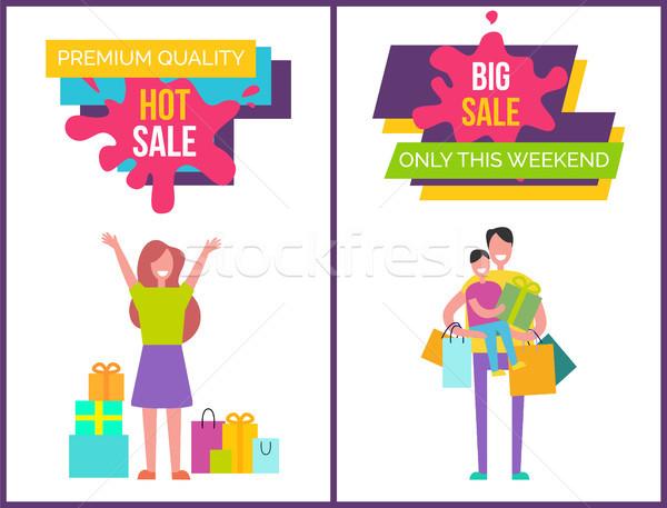 Stock fotó: Prémium · minőség · forró · nagy · vásár · hétvége